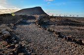 picture of dirt road  - Dirt Road through the Desert in Tenerife Island Spain - JPG
