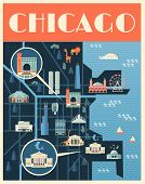 chicago map poster