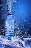 Постер, плакат: Баттл воды на льду Плеск воды