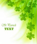 stock photo of saint patricks day  - Green clover holiday border st - JPG