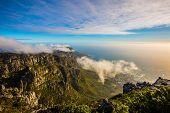 National Park Table Mountain South Africa, Cape Town. View of the Atlantic Ocean in a great day in A poster