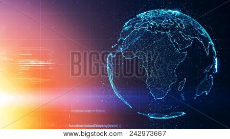 Worldwide Global Business Conceptual Background Abstract Earth