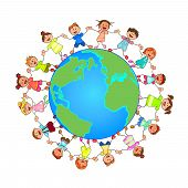 Small Children Around The Globe poster