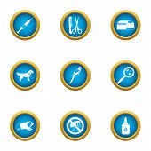 Vet Deal Icons Set. Flat Set Of 9 Vet Deal Vector Icons For Web Isolated On White Background poster
