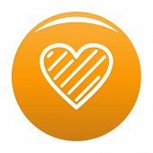 Simple Heart Icon. Simple Illustration Of Simple Heart Vector Icon For Any Design Orange poster