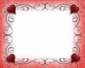 picture of valentines day card  - 3D illustration composition for Valentines Day card or background - JPG