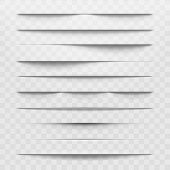 Isolated Shadow Bottom Web Paper Dividers On Transparent Background. Horizontal Shadows Layout Disca poster