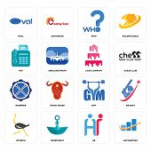 Set Of 16 Simple Editable Icons Such As Accounting, Hr, Paper Boat, Ostrich, Cricket, Oval, Fax, Dru poster