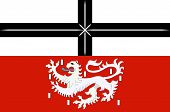 Flag Of Adenau Is A Town In The High Eifel In Germany. Vector Illustration poster