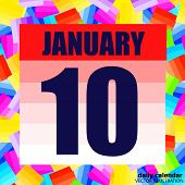 January 10 Icon. For Planning Important Day. Banner For Holidays And Special Days. Tenth Of January. poster