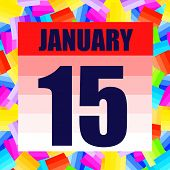 January 15 Icon. For Planning Important Day. Banner For Holidays And Special Days. January 15 Icon.  poster