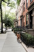 Row of old houses at Brooklyn Height, New York City, USA