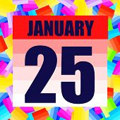 January 25 Icon. For Planning Important Day. Banner For Holidays And Special Days. January 25th. Ill poster