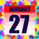 January 27 Icon. For Planning Important Day. Banner For Holidays And Special Days. January Twenty-se poster