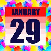 January 29 Icon. For Planning Important Day. Banner For Holidays And Special Days. January Twenty-ni poster