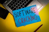 Writing Note Showing Software Cracking. Business Photo Showcasing Modification Of Software To Remove poster