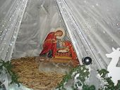 Christmas Nativity Scene Composition-reproduction Of The Christmas Scene. In Catholic Countries, Thi poster