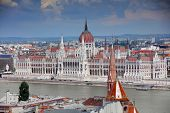 The Hungarian Parliament Building, also known as the Parliament of Budapest.One of Europes oldest l poster