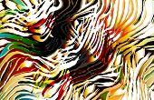 pic of sabertooth  - tropical tiger skin with colorful shades and whimsical animal lines - JPG