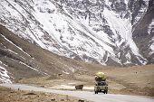 Indian Or Tibetan Driver People Driving Van On Leh Manali And Srinagar Leh Highway Journey Go To Vil poster