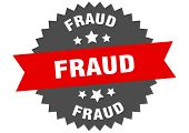 Fraud Sign. Fraud Red-black Circular Band Label poster