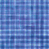 Watercolor Stripe Plaid Seamless Pattern. Colorful Blue Purple Pink Stripes Background. Watercolour  poster