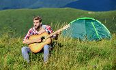 Music Brings Harmony To The World. Western Camping And Hiking. Hipster Fashion. Happy And Free. Cowb poster