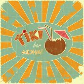 image of tiki  - Vintage Hawaiian postcard  - JPG