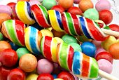 picture of gumballs  - Gumball background of several colors - JPG