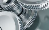 stock photo of solids  - industry machine gear engineering iron 3d Illustrations - JPG