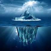 stock photo of iceberg  - Iceberg - JPG