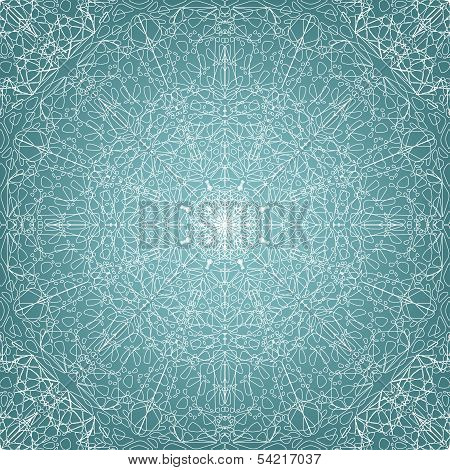 Lace seamless pattern - vector illustration poster