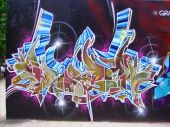 image of graff  - Multi dementional graff piece taken in Harlem New York - JPG