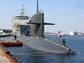 picture of missles  - docked submarine in stavanger  - JPG