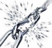 stock photo of shackles  - high resolution 3D rendering of a freedom concept - JPG