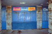 picture of tuck-shop  - a closed shop front on the seaside in ireland - JPG