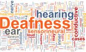 image of deaf  - Word cloud concept illustration of hearing deafness - JPG