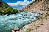 pic of shan  - White water in Tien Shan mountains  - JPG