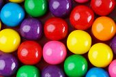 picture of gumballs  - Fun and colorful gumball or bubble gum background - JPG