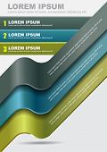 Modern vector abstract background with three steps stripes for content. Can use for brochure, poster