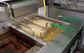 picture of boil  - Deep fryer with boiling oil in junk food restaurant - JPG