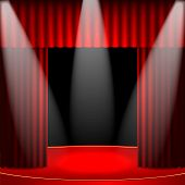 stock photo of soffit  - theatrical background - JPG