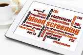 stock photo of hemoglobin  - blood screening healthcare concept  - JPG
