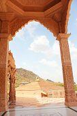 stock photo of jain  - sky view from nareli jain temple ajmer rajasthan - JPG