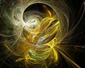 stock photo of cobweb  - Cobweb whirls abstract bright color swirl on the basis of the dark - JPG