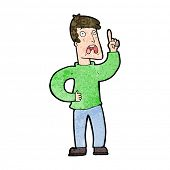 picture of moaning  - cartoon man with complaint - JPG