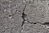 picture of fracture  - The Large cracked stone wall background texture - JPG