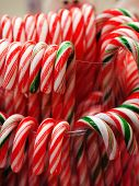 stock photo of desert christmas  - Christmas Candy Canes - good food for party
