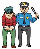 foto of bandit  - police and bandit Editable  - JPG