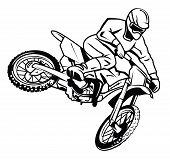 Постер, плакат: moto cross rider